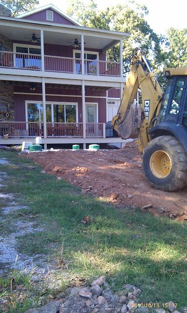 Residential Septic Services Being Performed on a Lawn