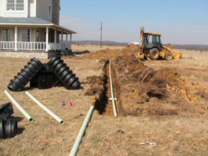 Construction for Conventional Septic Tank Installation